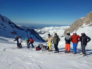 Enseignement optionnel EATDD en 2nd Générale organisé sur une semaine de ski classe à Gourette.